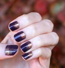 evlady fall nails aubergine u0026 copper gradient