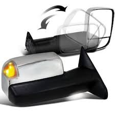 towing mirrors for dodge ram 3500 dodge ram 3500 2010 2012 towing mirrors chrome power heated led