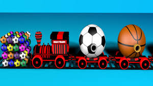 learn sport names with trains for and children balls