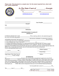 georgia sample dispossessory warrant u0026 affidavit ez landlord forms