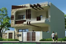 front elevation modern house trends including duplex designs