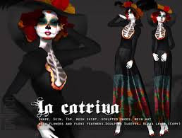 catrina costume second marketplace goth1c0 la catrina costume