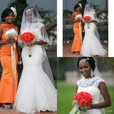 brautkleid high neck lace mermaid african wedding dresses 2017