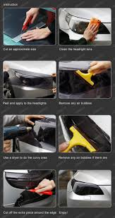 tail light tint installation how to apply smoke black out tint film for headlights and tail lights