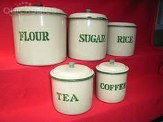 enamel kitchen canisters vintage style enamel ware 6 canister set green ebay my