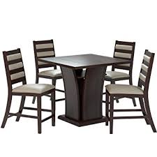 36 counter height table amazon com corliving dwp 390 z3 bistro 5 piece 36 counter height