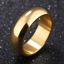 7mm ring aliexpress buy gold color ring men women gift wholesale 7mm