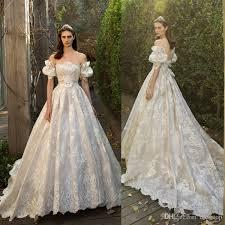 discount 2017 vintage a line lace applique wedding dresses with