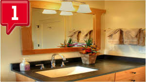 bathroom lighting ideas for small bathrooms youtube