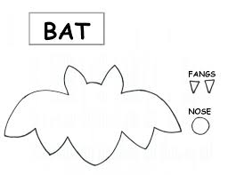 Bat Template Halloween by Cookie Nut Creations Fun With Foam Halloween Style