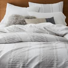 gray bedding west elm with grey striped duvet cover prepare