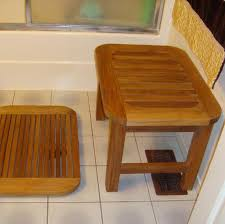 Redwood Shower Bench Oval Shower Bench