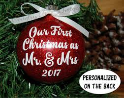 First Christmas Personalized Ornaments - our first christmas ornament our first christmas as mr u0026