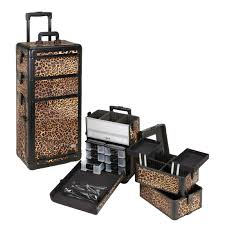 Rolling Makeup Case With Lights Stylish Makeup Cart With Drawers Professional Cosmetic Makeup Case