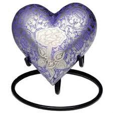 heart urn purple keepsake heart urn urns direct 2u