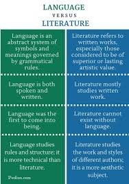 difference between language and literature