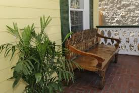 front porch bench inn on the avenue