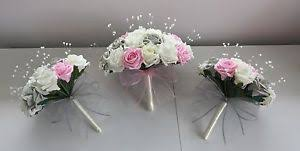 artificial wedding flowers artificial wedding flowers pink ivory silver grey brides