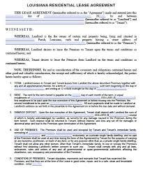 free louisiana residential lease agreement u2013 pdf template