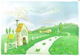 cartoon landscape cartoon house landscape landscape