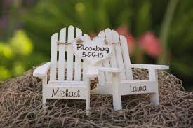chair cake topper personalized cake topper adirondack chairs wedding cottage