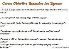 Objectives Resume Sample by Creative Idea Objective Resume Samples 12 Sample Career Objectives