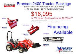 package deals big tex tractor