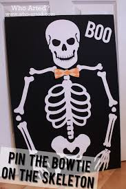 halloween skeleton bones halloween games for kids pin the bowtie on the skeleton who arted