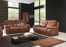 salon canapé salon complet brescia en cuir canapé 3 places avec 2 relax