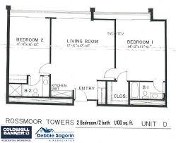 World Floor Plans Plan D Rossmoor Towers Floor Plan 24055 Paseo Del Lago Laguna