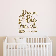 online get cheap arrow decal aliexpress com alibaba group dream big little one wall decal removable arrow vinyl wall sticker for kids room nursery baby
