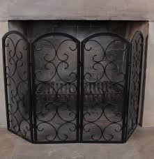 smith u0026 hawken wrought metal fireplace screen ebth
