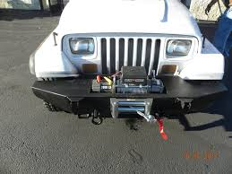 93 jeep wrangler custom bumper for 93 jeep wrangler complete with 9 000lb wench