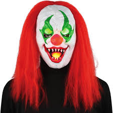 Halloween Light Up Costumes Light Up Eyes Sinister Clown Mask Halloween Accessory Walmart Com