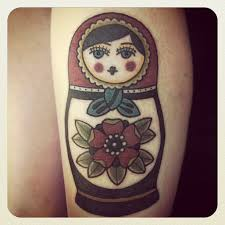 russian doll tattoo matryoshka with red hood tattoomagz