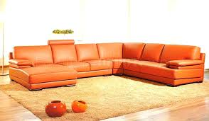 modern bonded leather sectional sofa modern sectional sofa orange leather leather match modern sectional