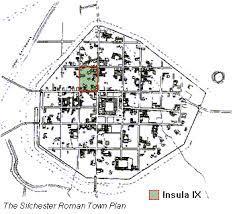 roman insula floor plan the silchester excavations