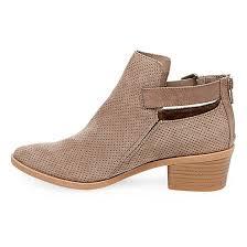 target womens boots zipper s dv sam laser cut booties taupe 6 5 target