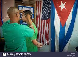 Cuban Flag Tattoos Havana Cuba Street Barber In Stock Photos U0026 Havana Cuba Street