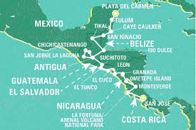 Blank Map Of Central America And Caribbean Islands by Top 10 Mexico Tours U0026 Trips 2017 18 Geckos Adventures Us