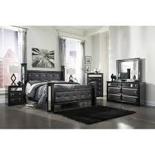 Black Poster Bed King Uph Poster Bed 5 Pc Bedroom Package
