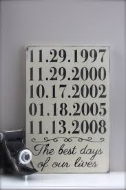 personalized important dates sign anniversary date birth dates