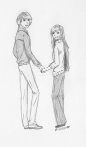 gallery sketches of anime people holding hands drawing art gallery