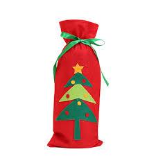 christmas santa wine bottle gift bag ornaments cover xmas home