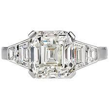 asscher cut diamond engagement rings stunning 4 65 carat asscher cut gia cert diamond engagement ring