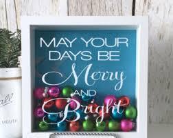 Bright Christmas Decorations Christmas Shadow Box Etsy