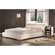 Leather Upholstered Bed California King Size Beds Cymax Stores