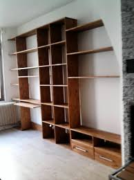 ensemble bureau biblioth ue fabrication d un ensemble bibliotheque meuble télé bureau