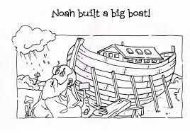 impressive design noah coloring page bible pages free itgod me