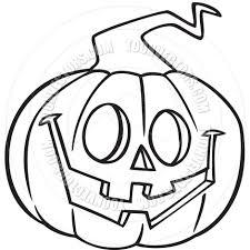 cartoon jack o u0027 lantern black and white line art by ron leishman